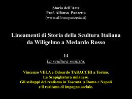 Lineamenti di Storia della Scultura Italiana da Wiligelmo a Medardo