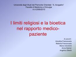 bioetica STUDENTI