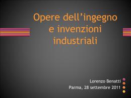 l`invenzione - Dipartimento di Economia