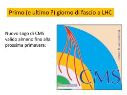 Primo (e ultimo ?) giorno di fascio a LHC