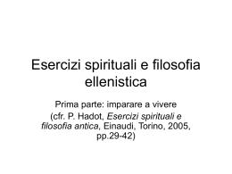 Esercizi spirituali e filosofia ellenistica