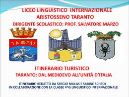 Taranto dal Medioevo all`Unita` d`Italia