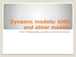 GMM dynamic models