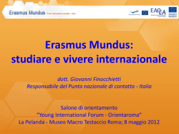 Erasmus Mundus - CorriereUniv.it