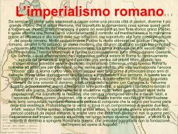 L`imperialismo romano