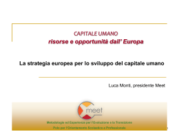 capitale umano – la strategia europea