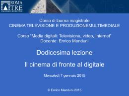 Media digitali 2014-15 Lezione 12