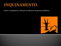 INQUINAMENTO. - Hera Ragazzi