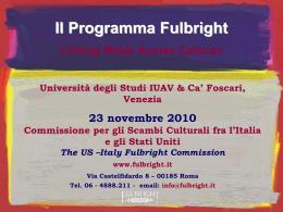 Sandro Zinani_Programma Fulbright