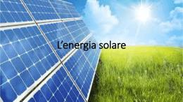 L`energia solare