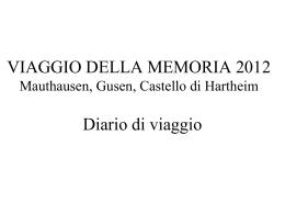 VIAGGIO DELLA MEMORIA 2012