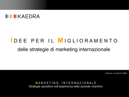 strategie di marketing internazionale