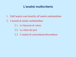 Analisi multicriterio