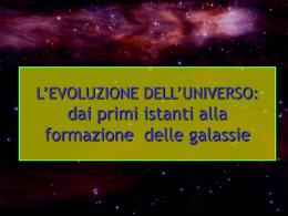 evoluzione universo