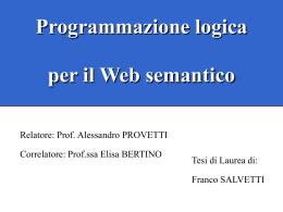 Programmazione logica per il Web semantico