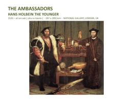 The ambassadors - Pontificio Collegio Gallio