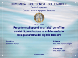 Smart Card - AIRT Lab - Università Politecnica delle Marche