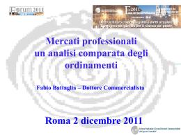 Mercati professionali analisi comparata
