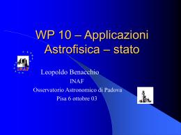 slides presentate al Check Point ottobre 2003