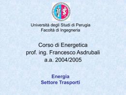 Corso di Pianificazione Energetica e Impatto Ambientale
