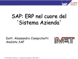 SAP: ERP nel cuore del `Sistema Azienda`