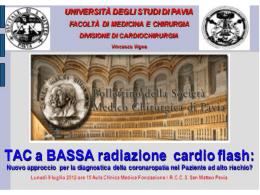 2) TAC a bassa radiazione cardio flash: nuovo