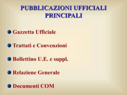 Le pubblicazioni ufficiali della Ue