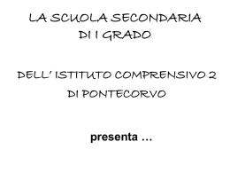 Cittadini in erba - Istituto Comprensivo 2 – Pontecorvo