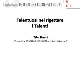Una presentazione in formato Power Point di Tito Boeri