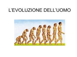 L`EVOLUZIONE DELL`UOMO Diana Gargiulo