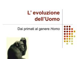 L` evoluzione dell`Uomo