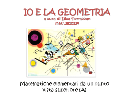 IO E LA GEOMETRIA a cura di Elisa Terrazzan