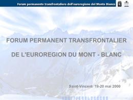 Nessun titolo diapositiva - Regione Autonoma Valle d`Aosta