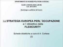 Strategia EU occupazione e Flexicurity