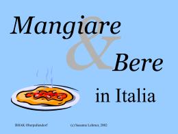 Mangiare e bere in Italia