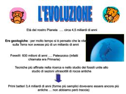 BIOLOGIA III evoluzione