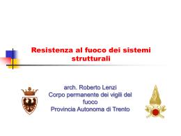 Resistenza al fuoco dei sistemi strutturali