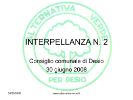 vedi presentazine dell`interpellanza