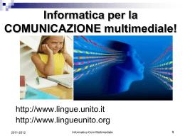 1. intro_2012_short - Dipartimento di Lingue e Letterature