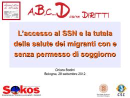 L`accesso al SSN e la tutela della salute dei migranti con e senza