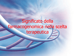 farmacogenomica e terapia