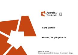 Carla Belfiore - Diretore regionale Agenzia del Territorio
