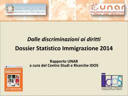 Presentazione Dossier Statistico Immigrazione 2014