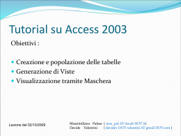 Tutorial su Access 2003