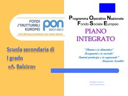 Programma Operativo Nazione Fondo Sociale Europeo