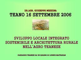 Incontro Teano 16 settembre 2006 SVILUPPO LOCALE1