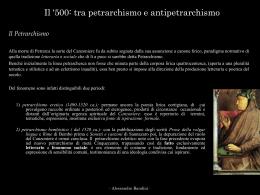 Petrarchismo e Antipetrarchismo
