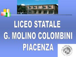 classi prime - Liceo Statale GM Colombini