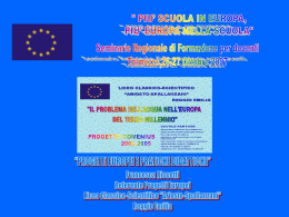 Progetti europei e pratiche didattiche