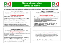 Milano democratica contro le mafie